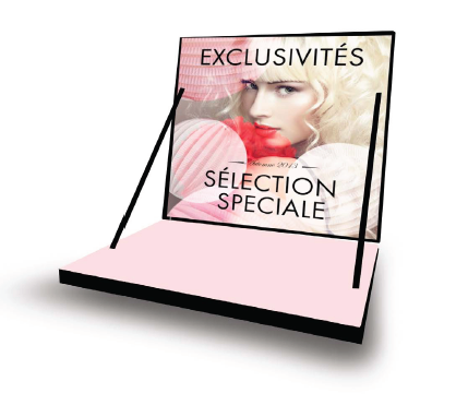 Parfum luxe présentoire point de vente