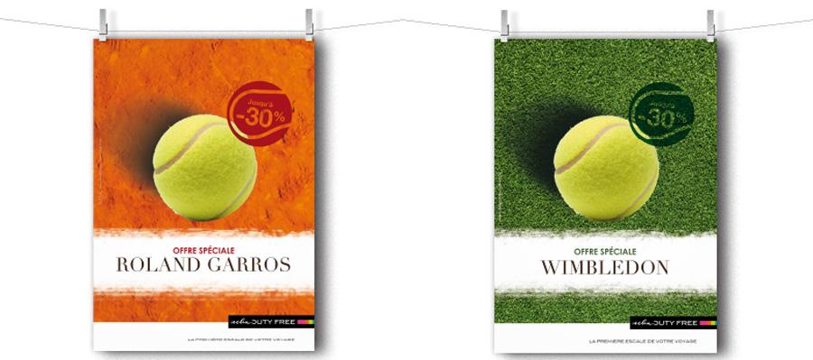 Animation points de vente Tennis
