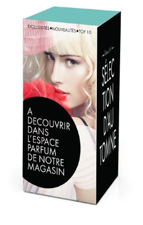 Parfum cube rayon point de vente