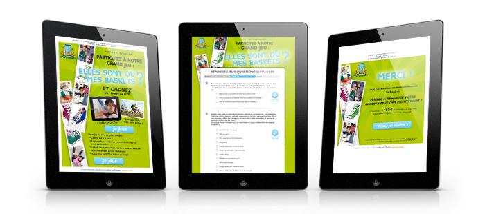 Bubbly communication dispositif digital email landing page site internet jeux en ligne