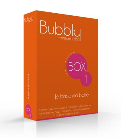 Bubbly Communication box branding identité graphique logo