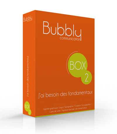 Bubbly Communication box logo et site internet