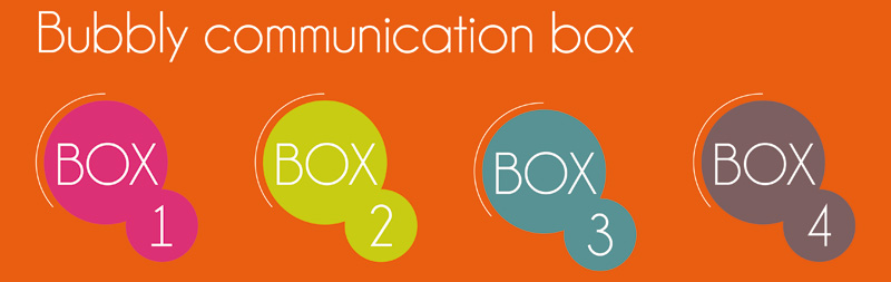 Bubbly communication box de communication